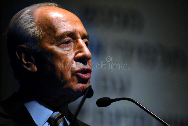 Shimon Peres - 9th president av Israel royaltyfri bild