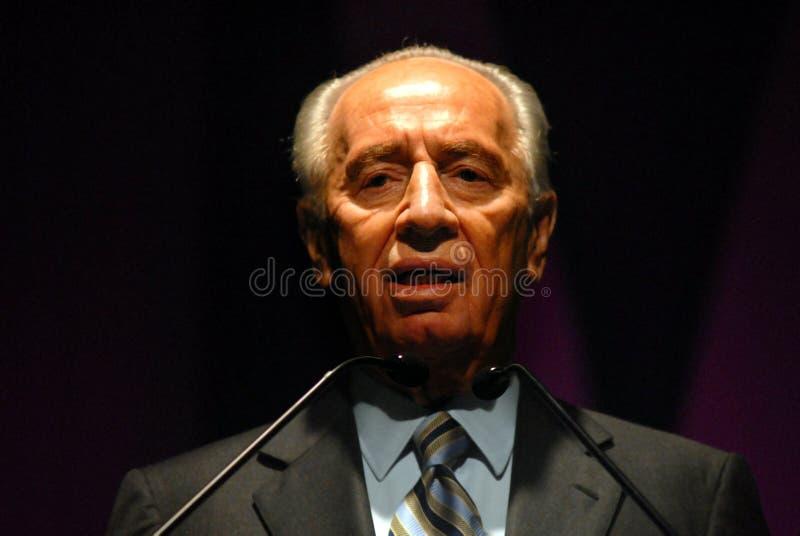 Shimon Peres - 9th president av Israel arkivbilder