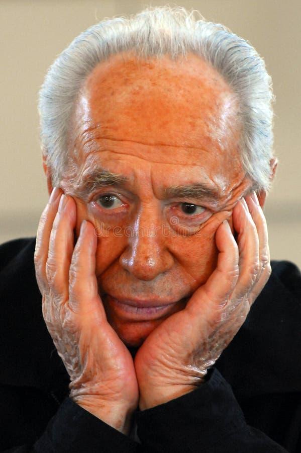 Shimon Peres - 9th president av Israel arkivbild