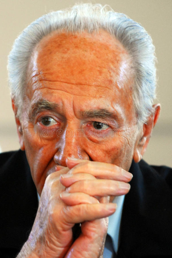 Shimon Peres - 9th president av Israel fotografering för bildbyråer