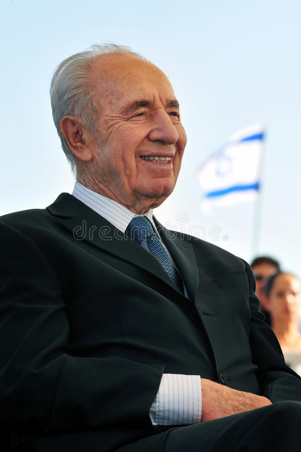 Shimon Peres - 9th president av Israel arkivfoto