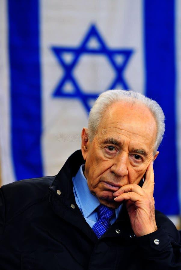 Shimon Peres - 9th president av Israel royaltyfri fotografi