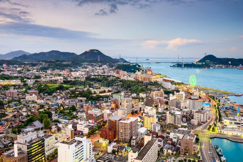 Shimonoseki, Japon images libres de droits