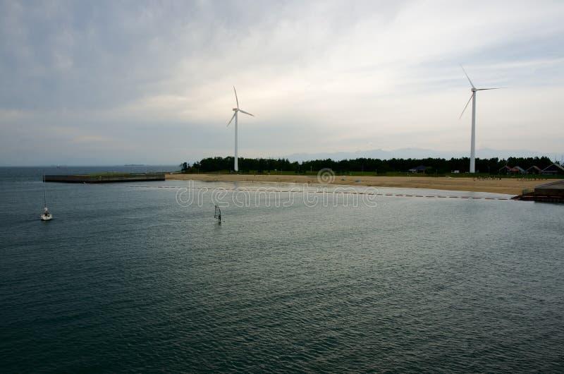 Shin-Maiko beach in Nagoya, Japan stock images