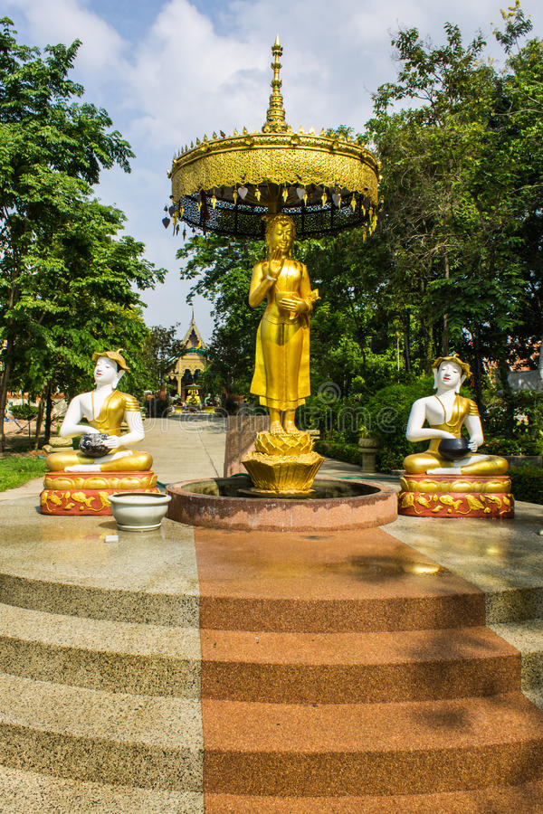 Download Shin Upagutta Statue In Wat Sri Don Moon , Chiangmai Thailand Stock Image - Image: 32433167