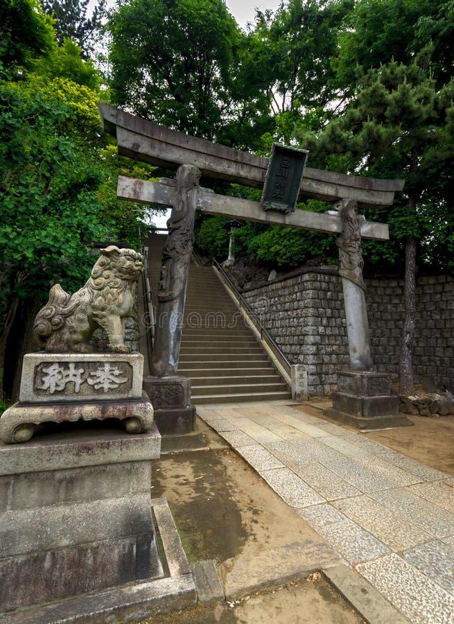 Shinagawa relikskrin i Tokyo royaltyfria foton
