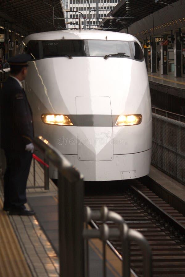 Shinaksen kommt in Tokyo an lizenzfreies stockfoto