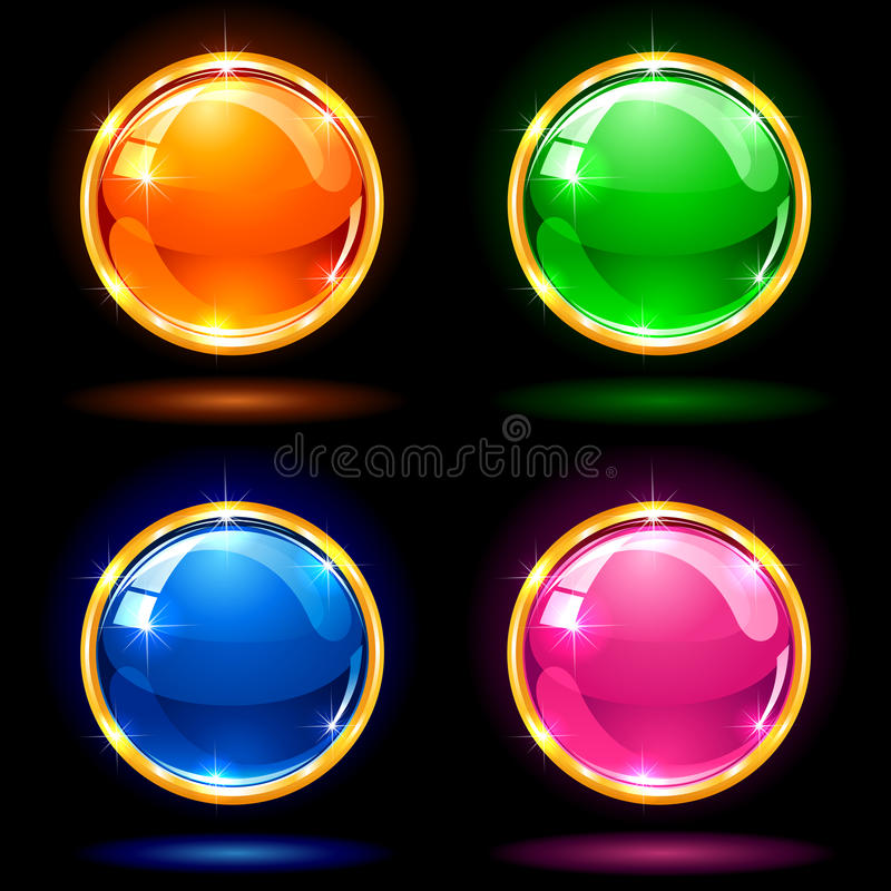 Shine balls royalty free illustration