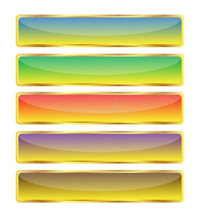 Download Shine Butons With Gold Frame Stock Illustration - Illustration: 14518579