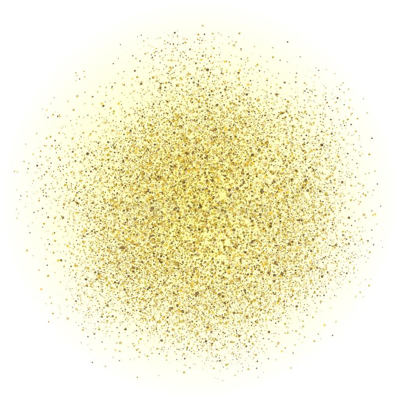 Shine gold dust on white background for design – vector. Shine gold dust on white background for design – stock vector royalty free stock photo
