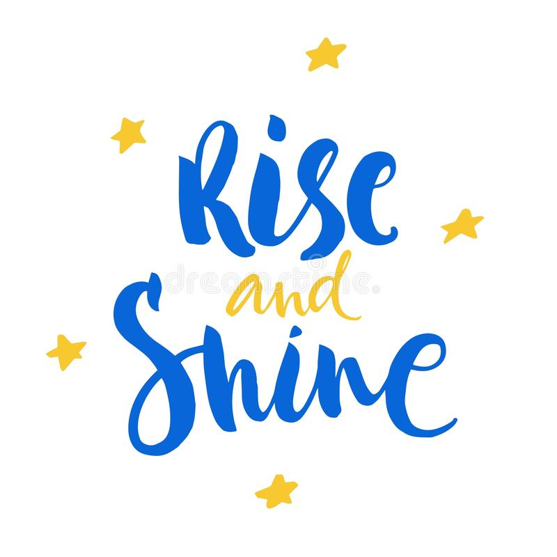 Shine like a star lettering on white background. Vector inspiration and motivation phrase. stock photo