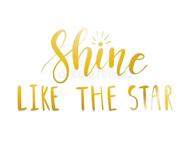 Shine like the star vector illustration