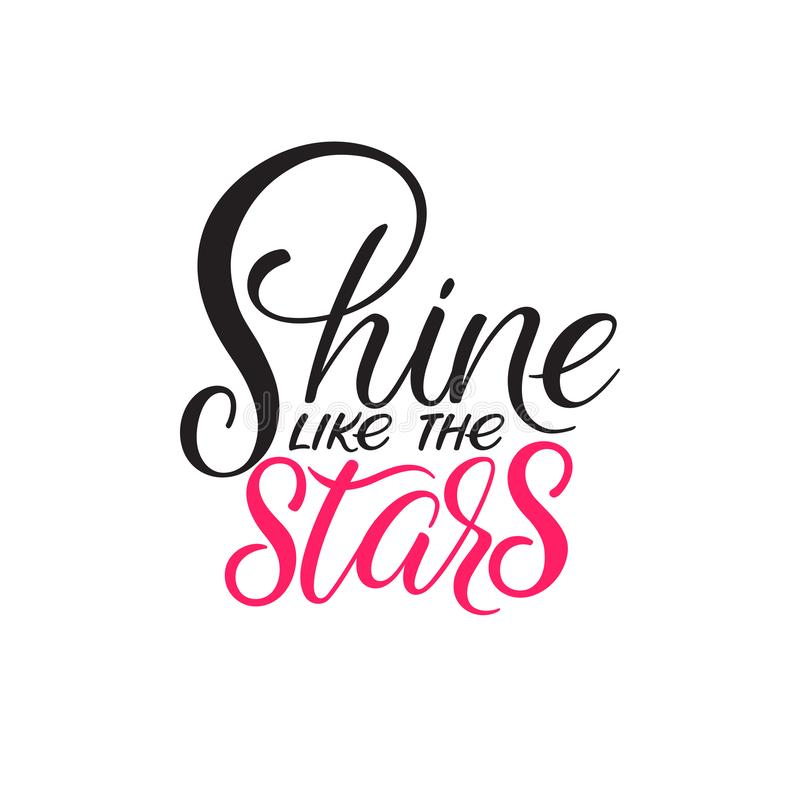 Shine like the stars stock illustration