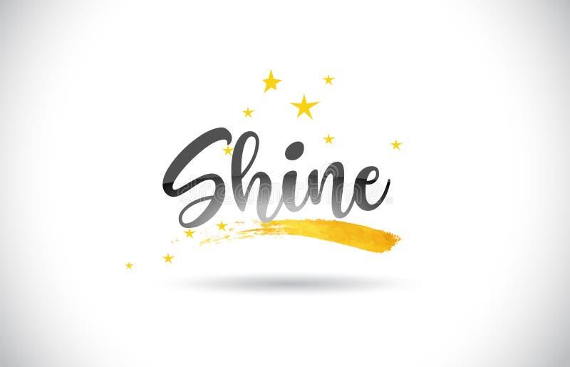 Shine Bright Hand-Written Sign White Framed Sign Inspirational Word Art Star