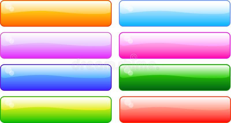 shiney εικονιδίων ράβδων διανυσματική απεικόνιση