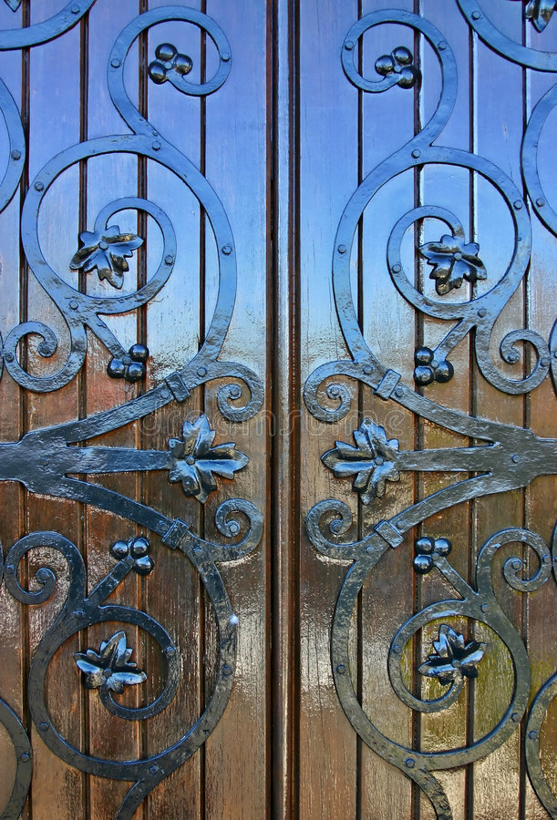 Shiney Wooden Door royalty free stock images