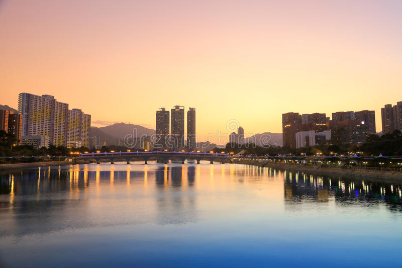 Shing Mun rzeka przy hk obrazy royalty free