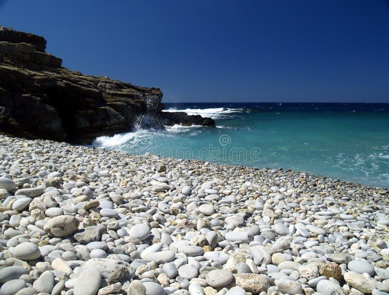 Download Shingle beach stock image. Image of ocean, blue, greece - 844255