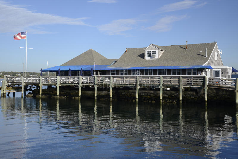 Download Shingle Building By Water And Dock Stock Photo - Image: 34794208