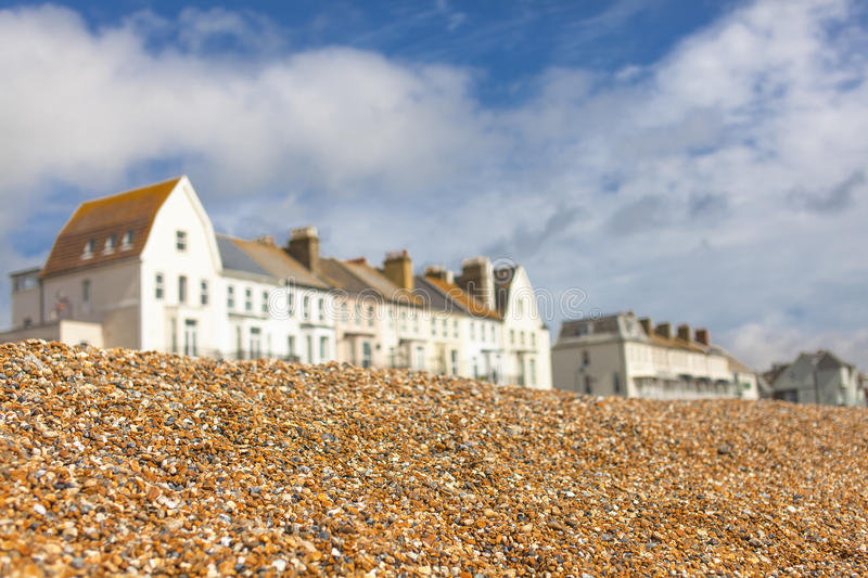 Shingle in English Hythe stock photos