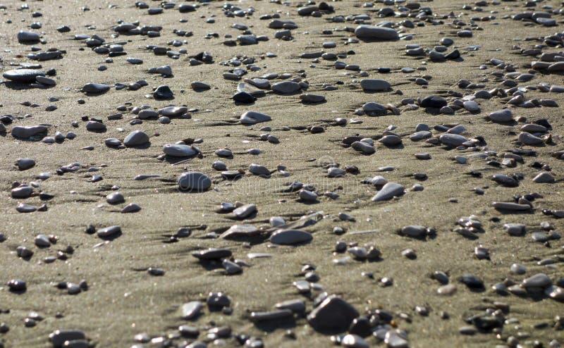 Shingle rocks, pebble on the shore stock photo