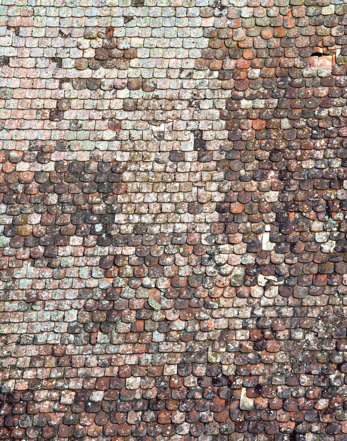 Shingle roof texture royalty free stock photography
