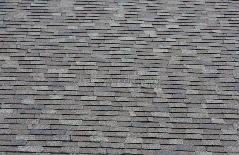 Shingles. A shot of shingles on roof stock image