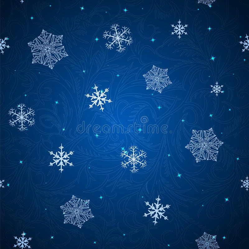 Shining background with snowflakes