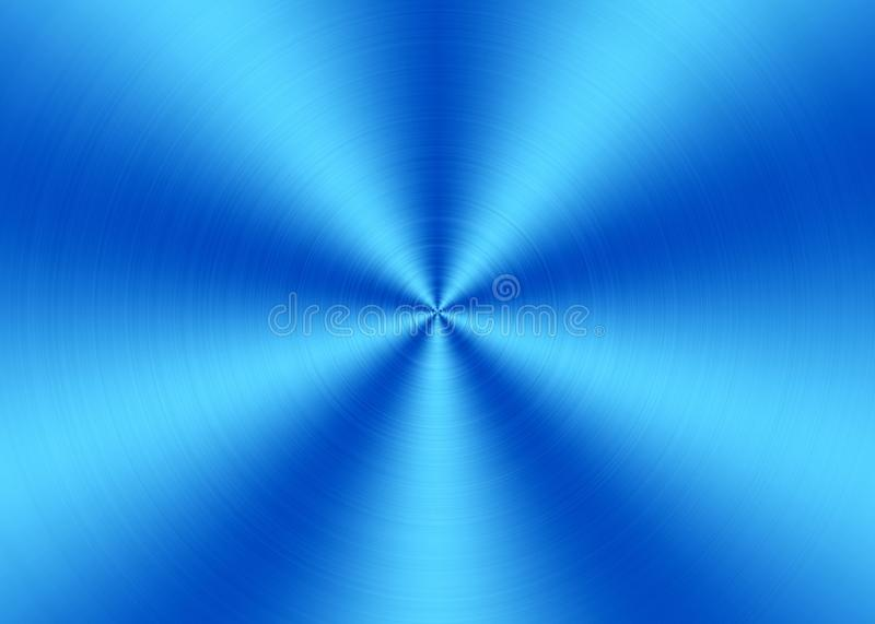 Shining Blue Radial Brushed Metal Surface for Abstract Background royalty free stock photography