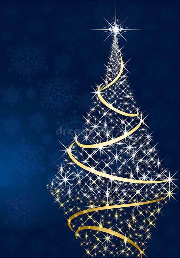 Download Shining Christmas Tree And Stars Stock Vector - Illustration: 15282211