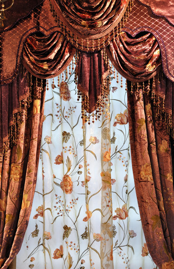 Download Shining Curtains Stock Photo. Image Of Brown, Detail   15526704