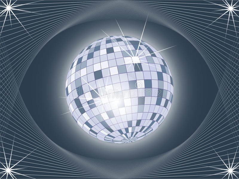 Download Shining Disco Ball On Abstract Background Stock Vector - Image: 11970161