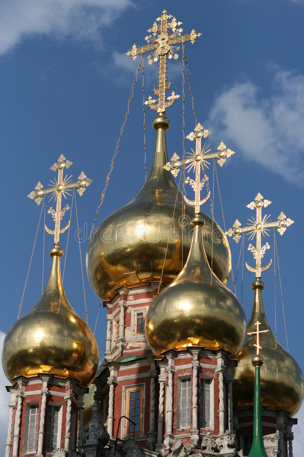 Free Shining Domes Of Orthodox Church Royalty Free Stock Photos - 10814678