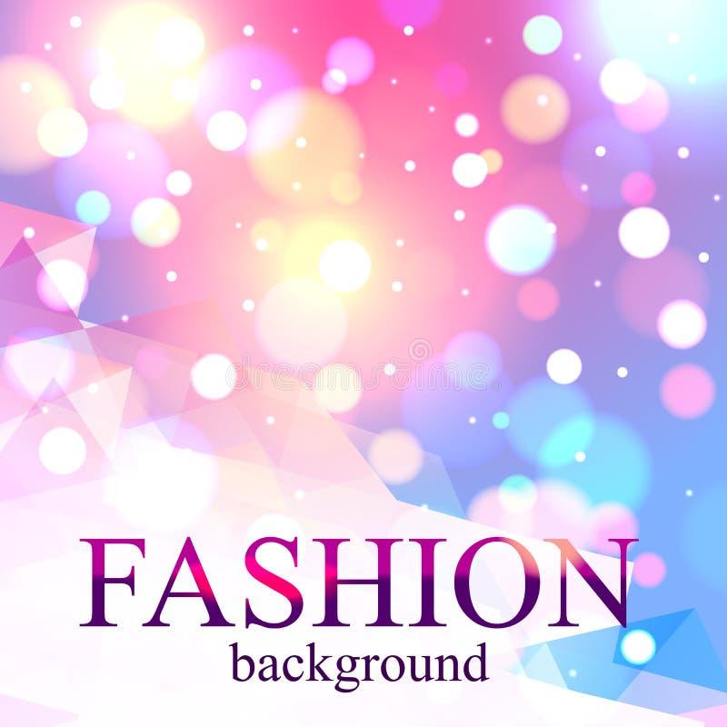 Shining fashion blur bokeh background for beauty stock illustration