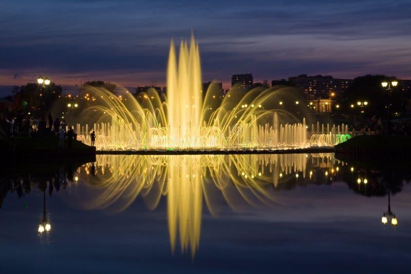 Shining fountain royalty free stock photos
