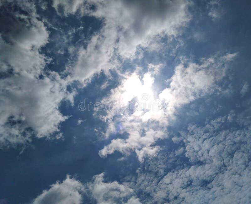 Shining funny cloud. stock image
