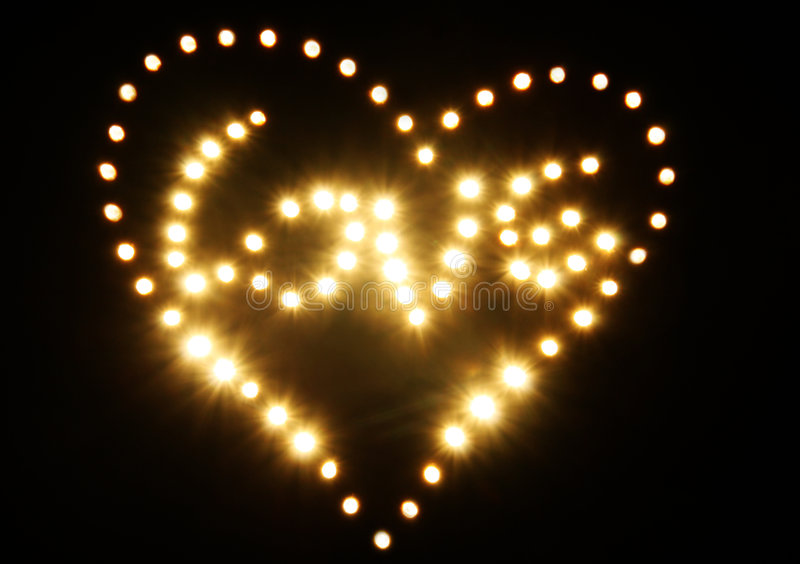 Download Shining Golden Abstract Heart And Love Stock Image - Image: 8111265