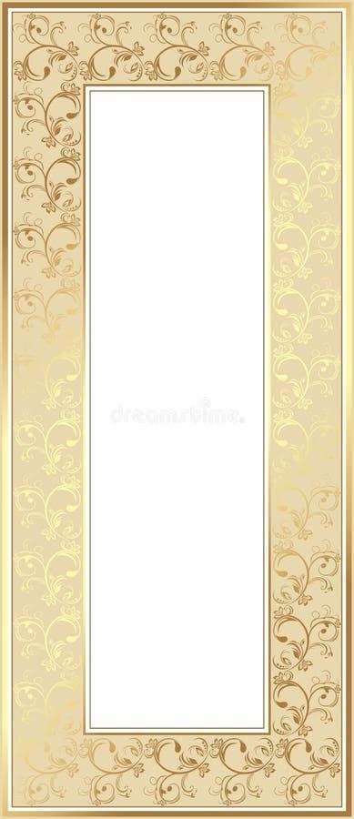 Shining golden frame royalty free illustration
