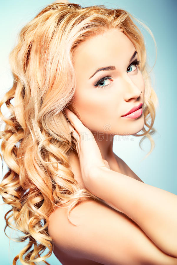 Shining hair royalty free stock images