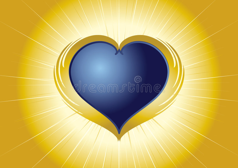 Shining heart. Heart as a jewel, Valentine, love, tattoo ornament, amorous, romance, backgrounds, gift, holiday, celebration, gold, surprise, wedding vector illustration