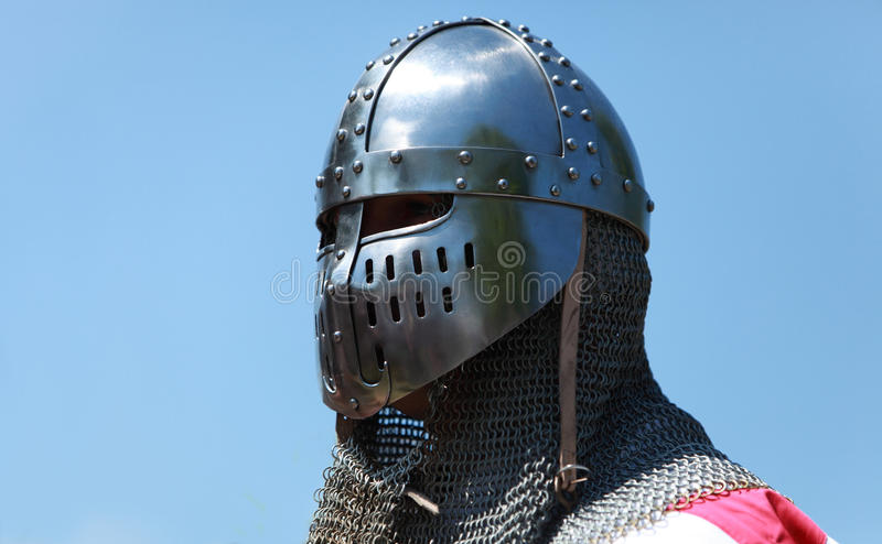 Download Shining knight helmet stock image. Image of conflict - 18957799