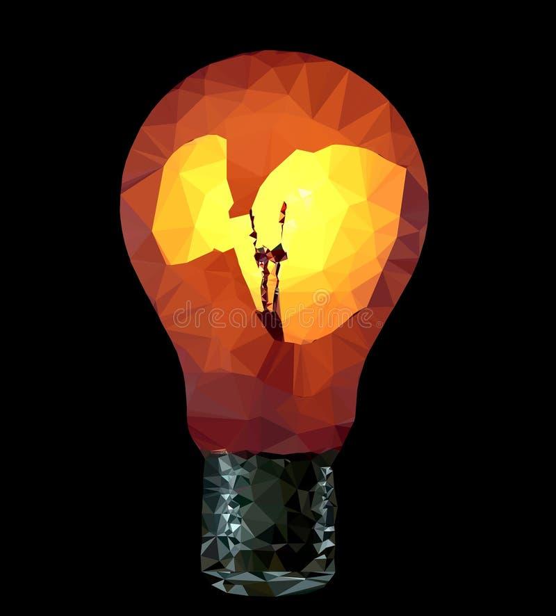 Shining lamp bulb - illustration. Illustration of the shining lamp bulb stock illustration