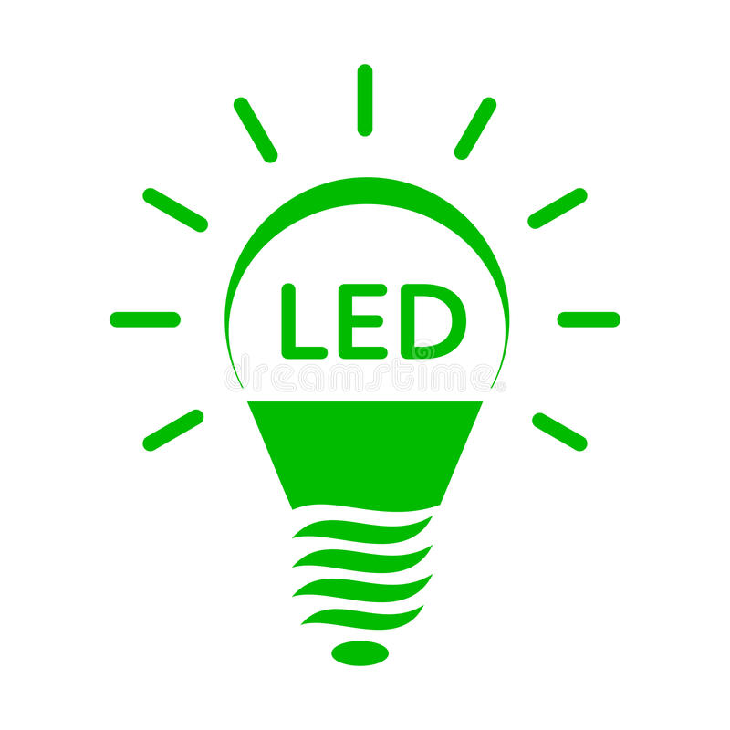 Shining LED Bulb Light Icon, Simple Style Stock Vector ...