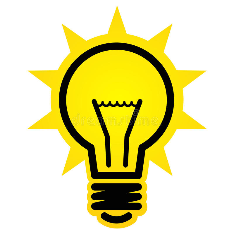 Shining light bulb icon. Shining light bulb vector sign isolated on white background vector illustration