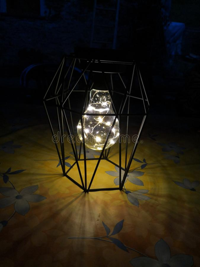 Shining light details. Lanterna homemade shining light details royalty free stock photos