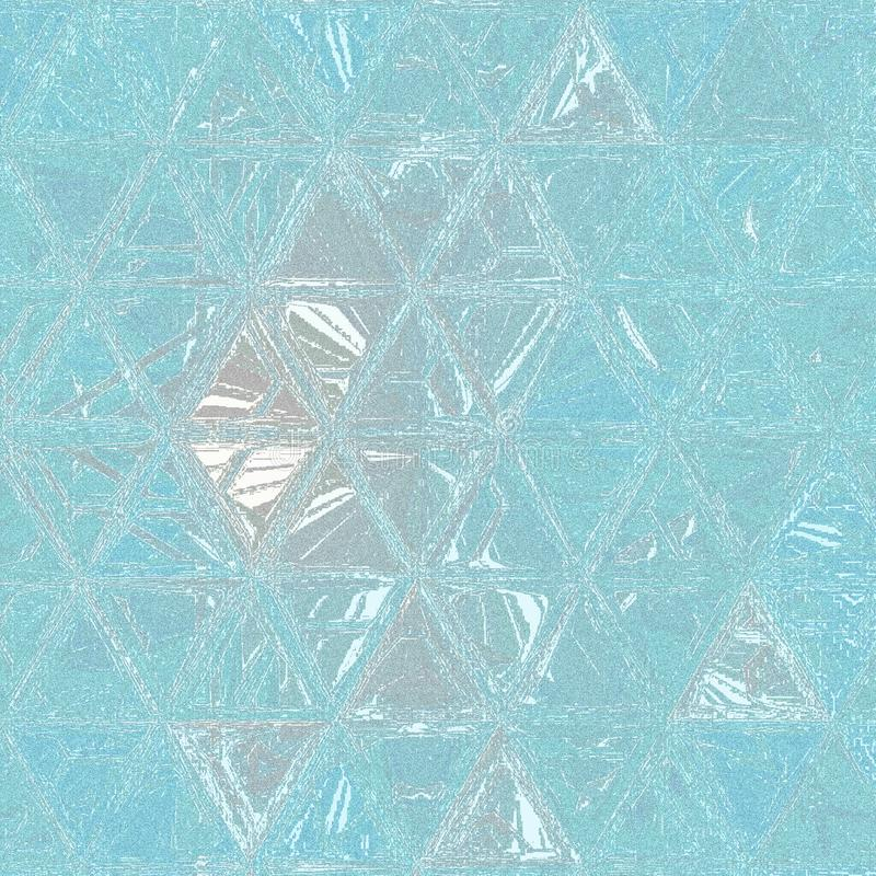 Grainy shining monochrome pattern composed of light blue sky triangles. Shining monochrome pattern composed of light blue sky triangles royalty free stock image