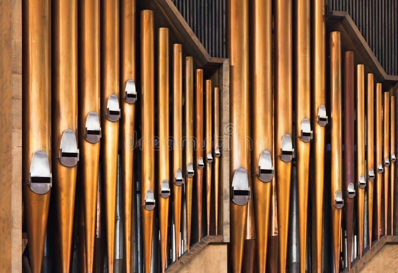 Shining organ tubes, classical music. Background photo royalty free stock photo