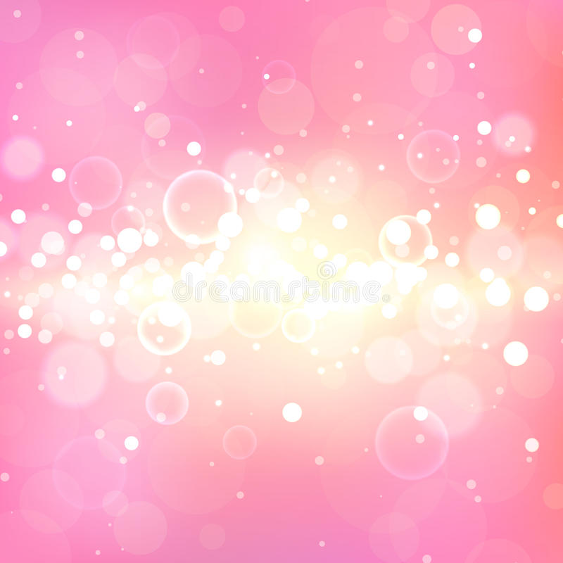 Shining pink background with light effects. Magic defocused glitter sparkles. Blurred soft backdrop royalty free stock images