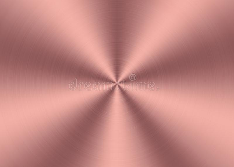 Shining Pink Radial Brushed Metal Surface for Abstract Background stock illustration