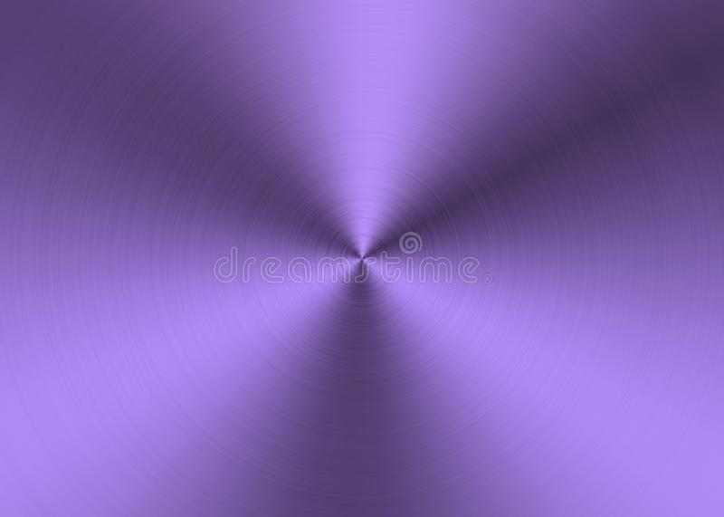 Shining Purple Radial Brushed Metal Surface for Abstract Background royalty free stock images